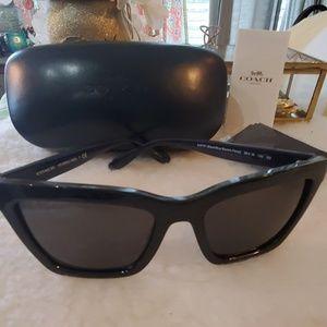 SOLD Coach HC8208 BLACK Floral sunglasses